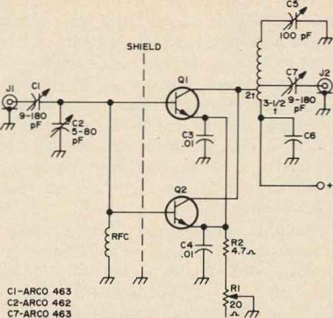 450 Mhz Watt Booster Schematic