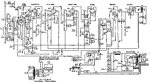tube heterodyne receiver circuit