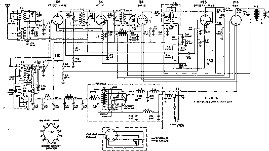 tube heterodyne receiver circuit radio construction dio general electric 260 schematic